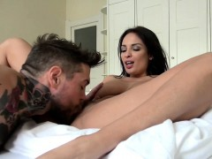 Beautiful busty beurette's passionate fuck