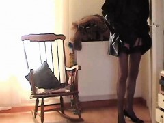Her cock will be crushed by her with stilettos