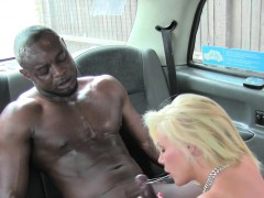 Thankful busty cab driver interracial banging