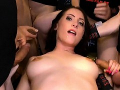 Gangbang sex with shaved cocks