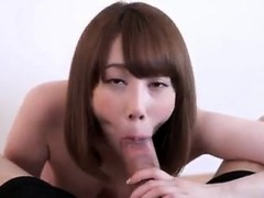 Cute Asian Chick Teases Cock and Hurts onto it
