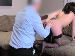 Babe in stockings gets anal pounded