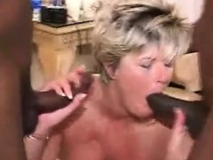 Blonde ex girlfriend sucking big cock untill he cums