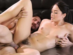 Teen masseuse Avi Love pounded real deep in her hairy muff