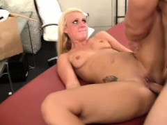 WANKZ- Hot Blond Sales Rep Takes Cock
