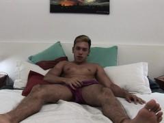 Latin Amateur Nathan Jerking Off