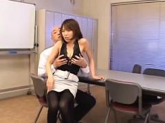 Jun Kusanagi Asian maid gets anal fingering before sucking