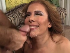Big titty MILF gives her fuck buddy a wonderful blowjob and