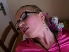 Stunning leony aprill puts her fuck holes on the line
