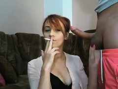 Cam blows and bitch smokes fucks