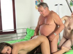 Grandpa at the doctor fucks hot young nurses old young