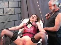 Flaming nude spanking and extreme servitude porn