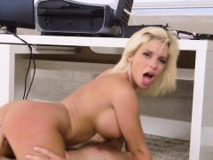 Sneaky dirty and busty blonde gets fucking
