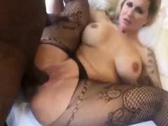 Busty Amateur Slut Taking A Black Dick