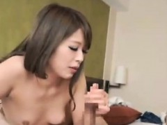 Amateur Japanese gives blowjob