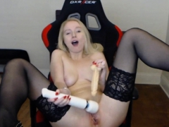 Blonde Nympho Teen Seductively Sucking On A Hard Cock