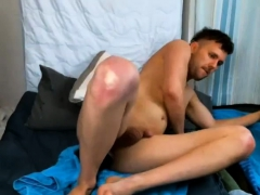 Amateur Hunk Aston Stretches Ass With Toys