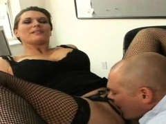 Slutty milf with big tits gets pussy licked and drilled