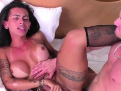Adorable Ts Isabelly Strokes Huge Dick