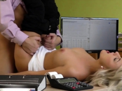 Loan4k. Blonde Angel Gives Her Nice Shaved Pussy To...