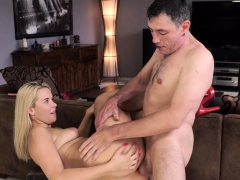 DADDY4K. Excited dad tastes pussy of son's hot and sexy...