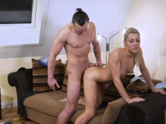 HITZEFREI Tight body German blonde gets her ass reamed