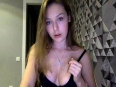Cute busty babe on cam loves play her tight ass with a dildo