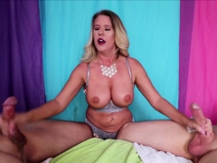 Leave it to busty MILF Grave Evangeline to make the most