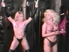 Two Blondes Playing Bdsm Games In Vintage Porn
