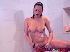 Ts Beauty Camilla Jolie Jerking Her Dong