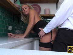 Throating submissive milf anally rides