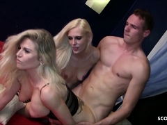 German Couple Seduce Skinny Teen for 3some at Swing Party