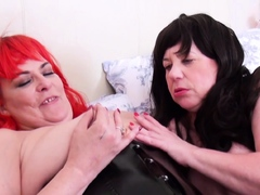 OldNannY Mature Lesbians Masturbating with Toys