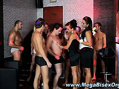 Group orgy gloryhole after oiling